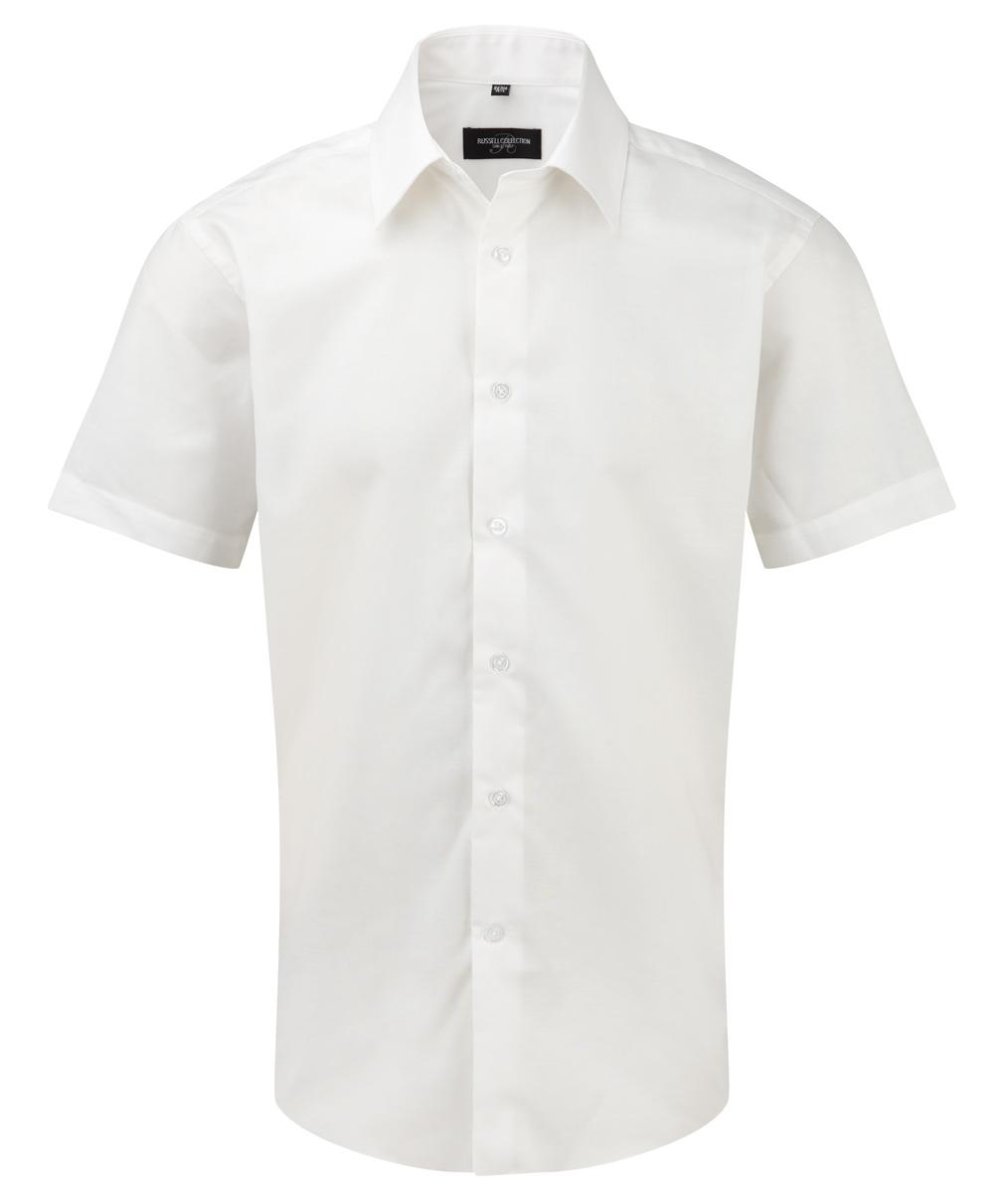 Oxford tailored Herrenhemd kurzarm