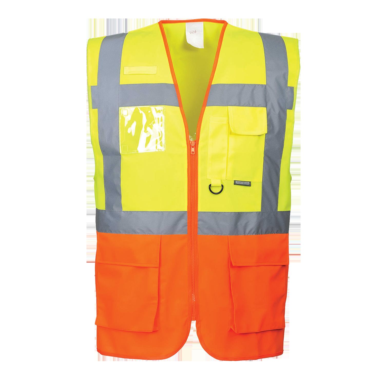 Warnweste optiSignal mit Taschen und Reißverschluss