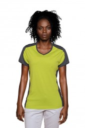 Damen T-Shirt Performance Contrast