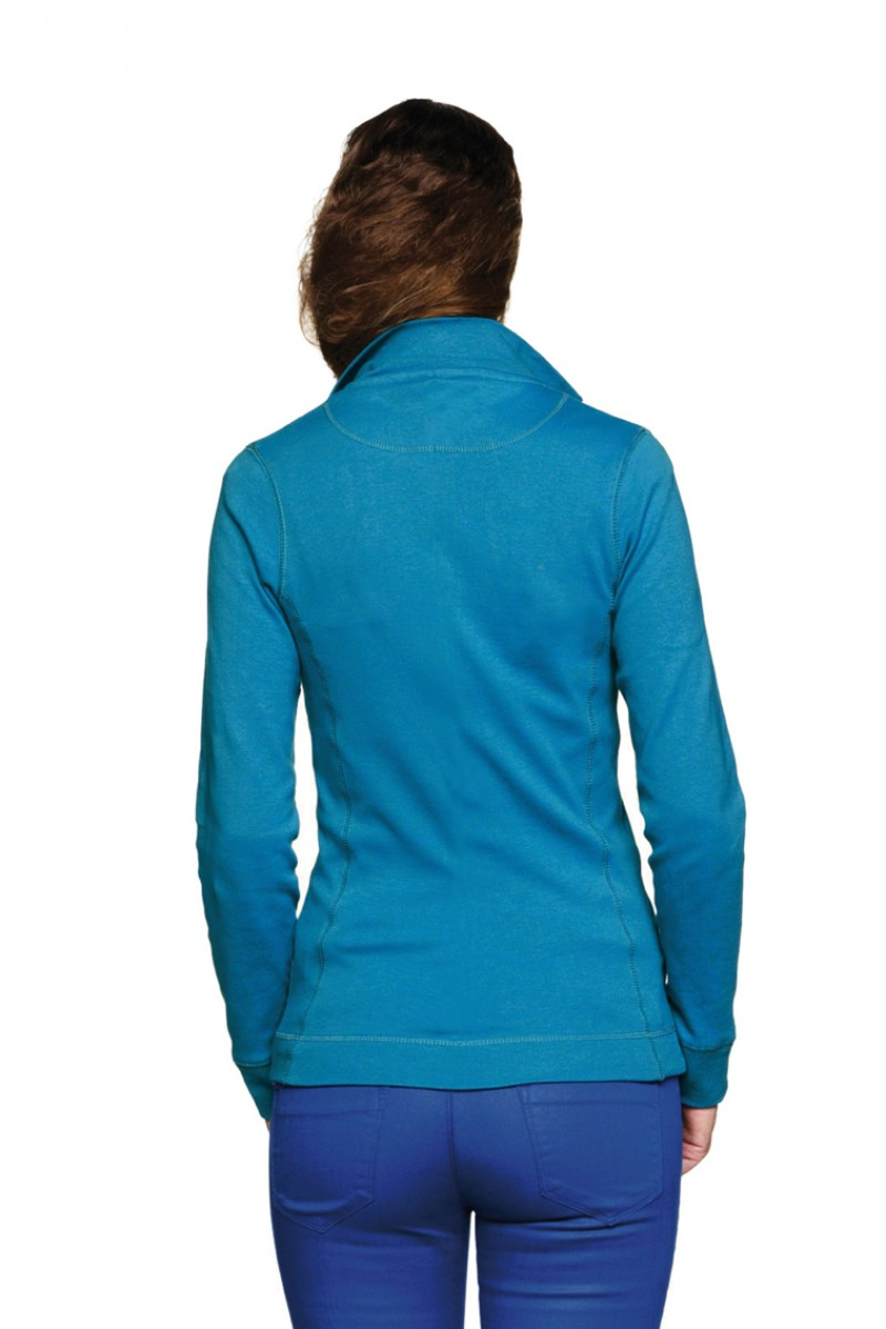 Damen Interlock Sweatshirtjacke