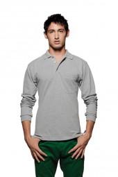 Longsleeve-Poloshirt Top mit Brusttasche