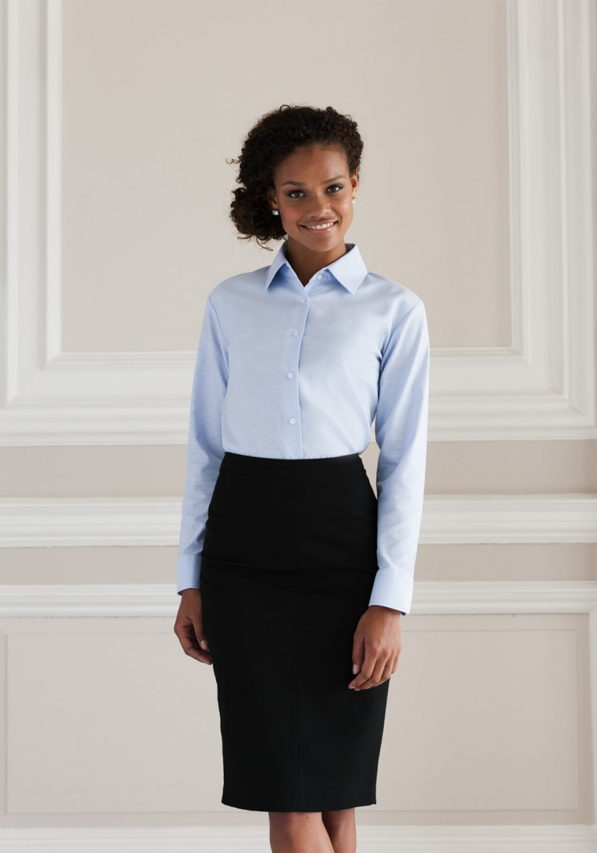 Oxford Damenbluse langarm