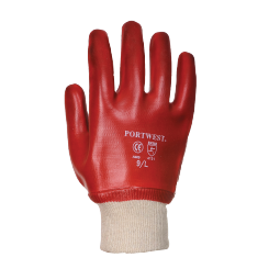 PVC-Handschuh mit Strickbund