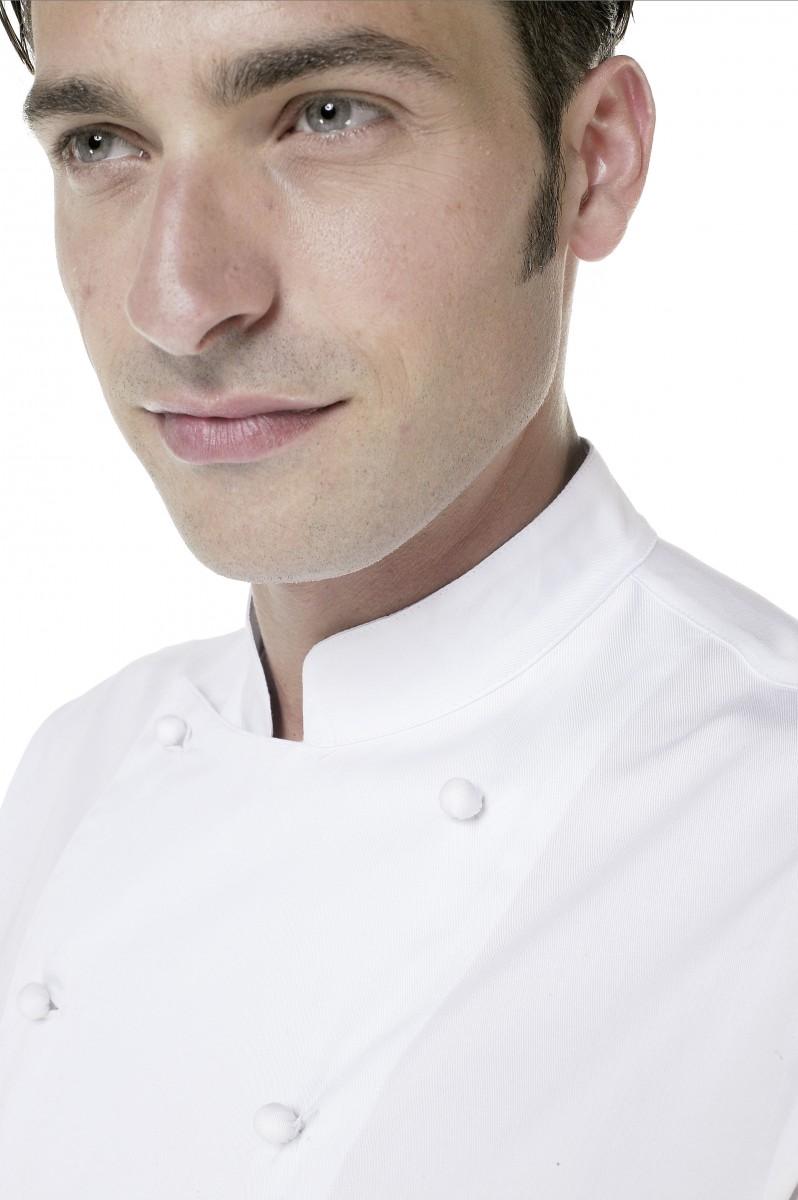 CHEFstyle Chef-Kochjacke mit handgenähten Stoffknöpfen