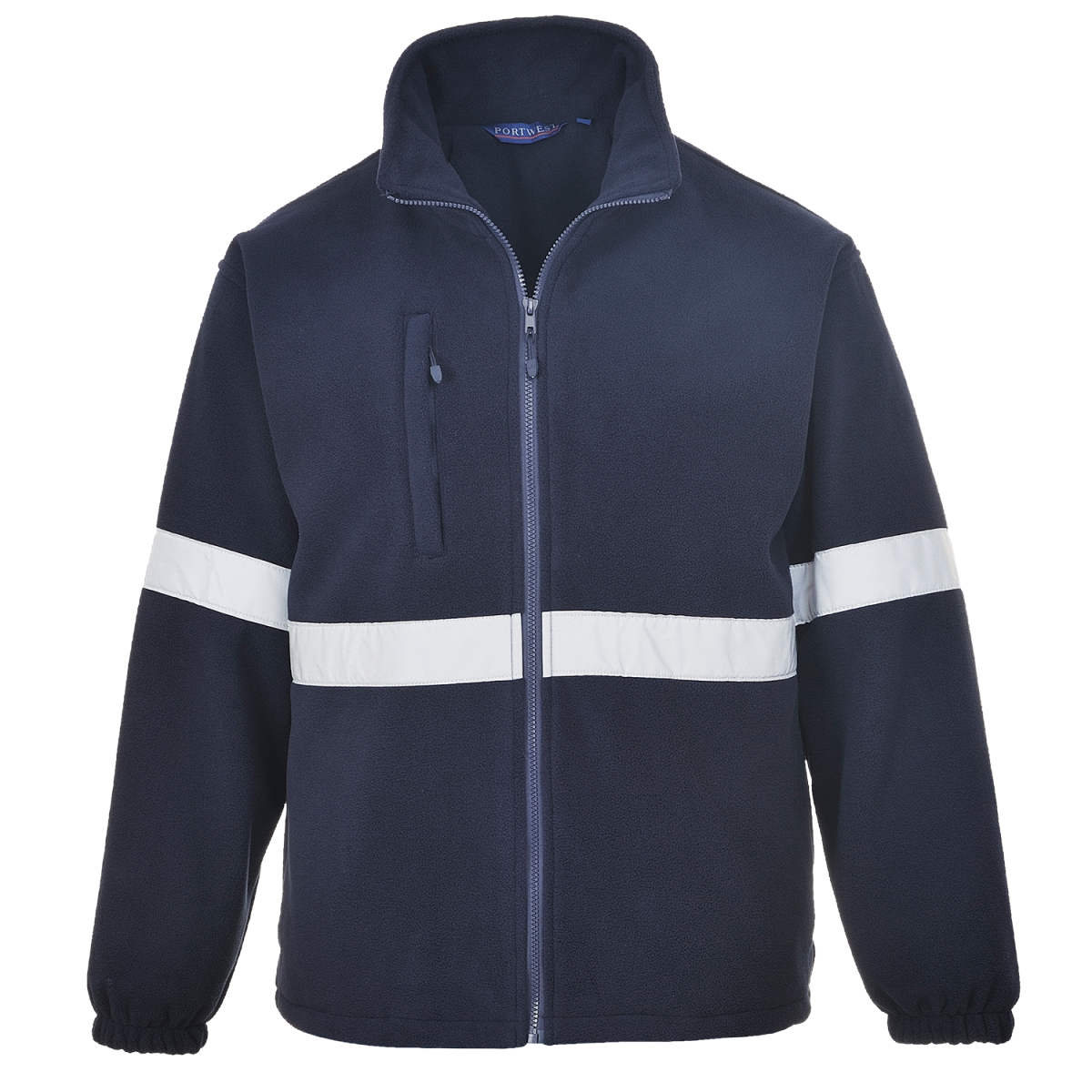 Fleecejacke Safety mit Reflexstreifen