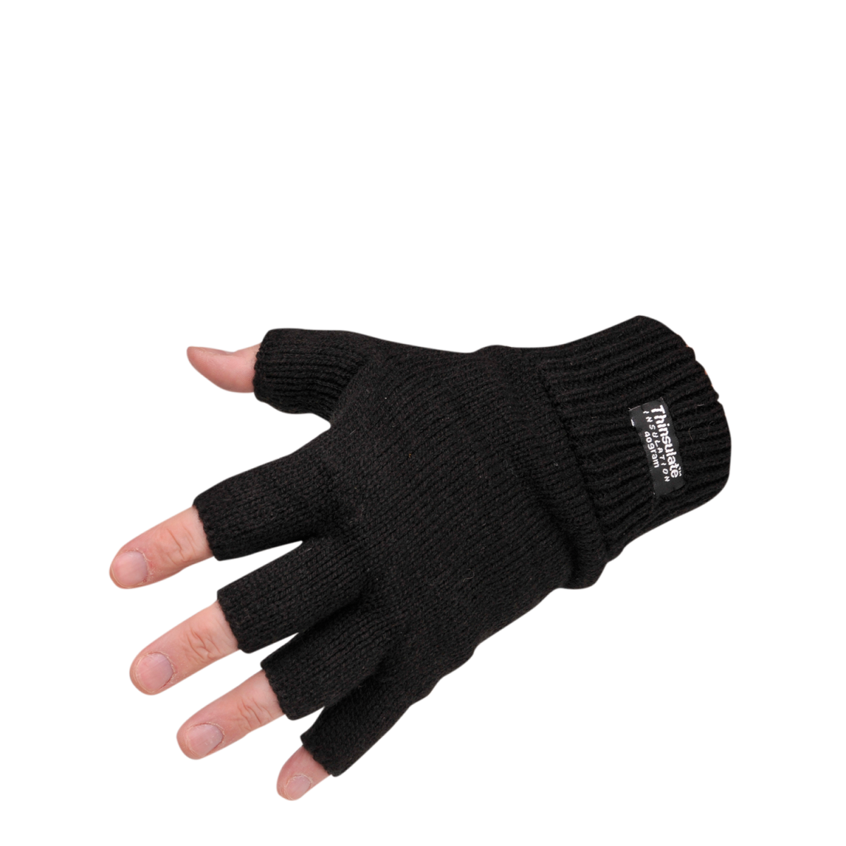 Fingerfreier Strick-Handschuh mit Thinsulate