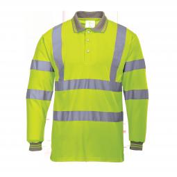 Warnschutz Langarm-Poloshirt